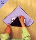 台付帛紗のつつみ方手順2